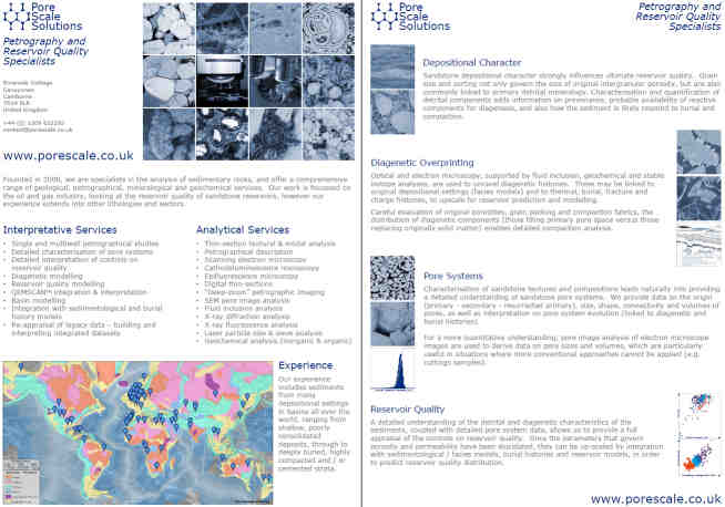Petrography and Reservoir Quality Specialists Brochure