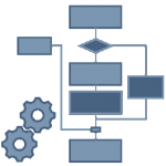 Icon symbolising project workflow